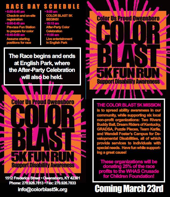 color blast run march 23