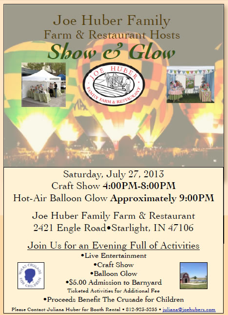 huber show and glow july