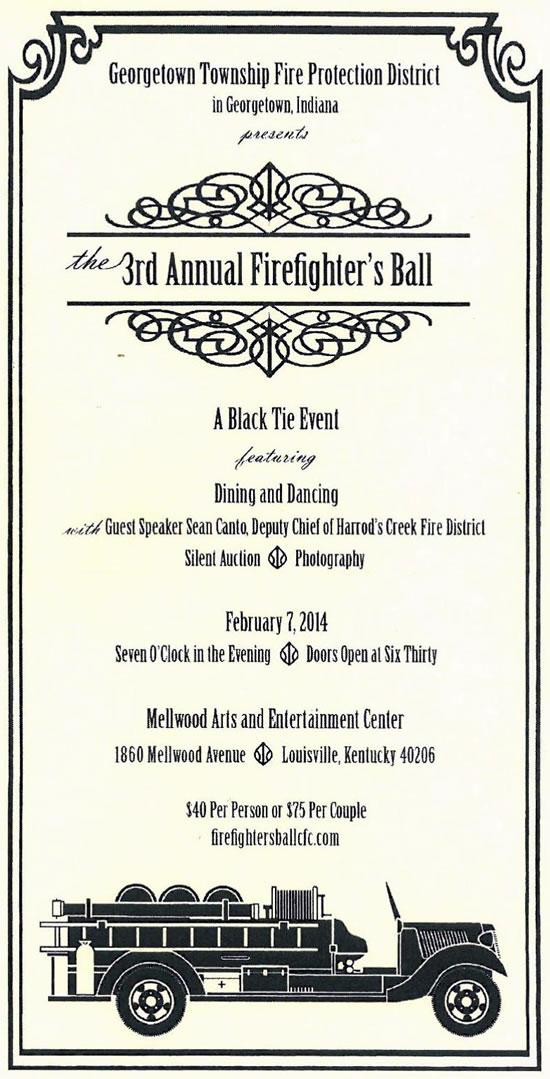 Firefighter's Ball Formal Invite
