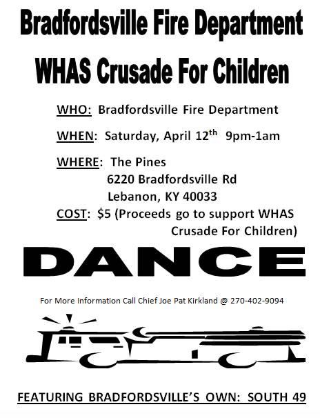bradfordsville dance April 12