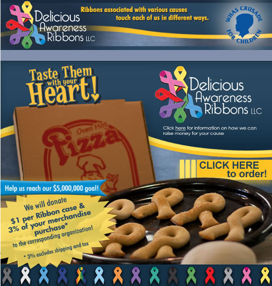 pizza ribbons